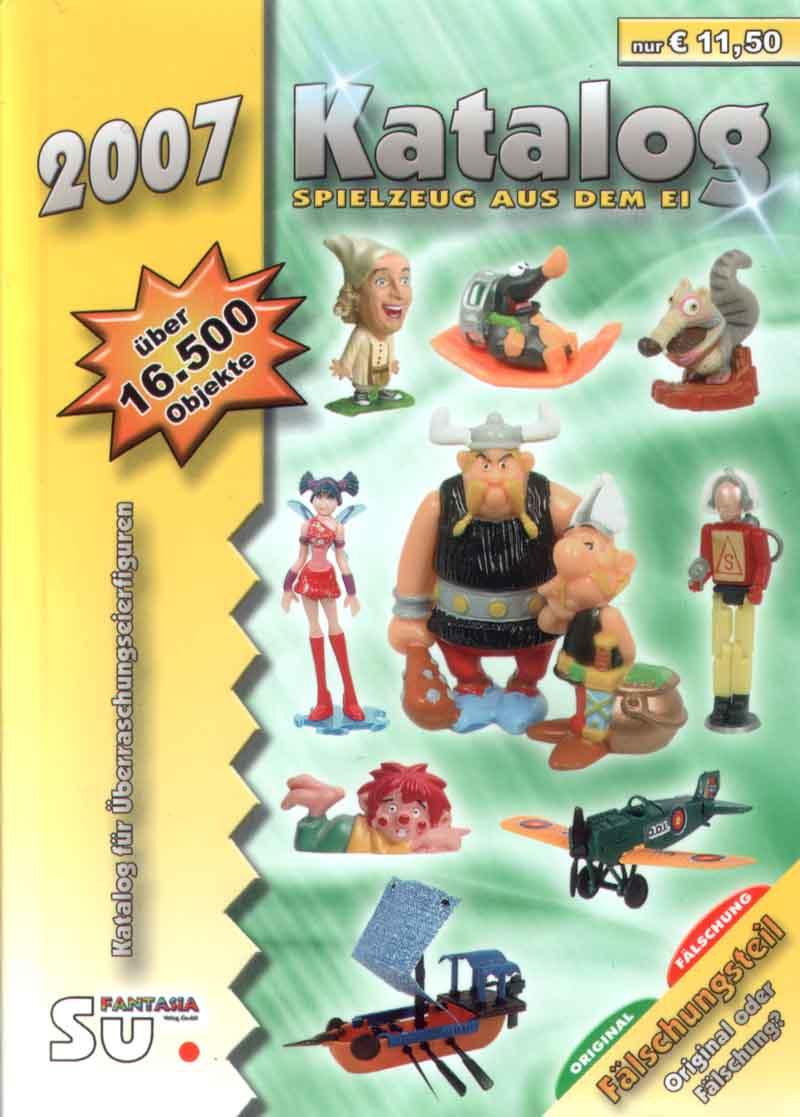 По страницам Katalog Spielzeug aus dem Ei - 2007 - Fantasia Verlag GmbH - Dreieich. Скан раздела Фигурки из металла.